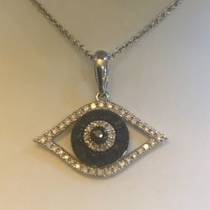 Jewelry - Diamond and Sapphire Evil Eye Necklace